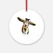 Goat Round Ornament