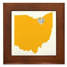 Ohio Cleveland Heart Framed Tile