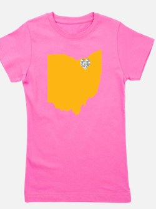 Ohio Cleveland Heart Girl's Tee