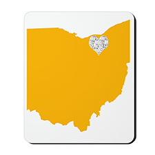 Ohio Cleveland Heart Mousepad