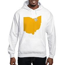 Ohio Cleveland Heart Hoodie