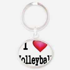 I LOVE MY VOLLEYBALL Oval Keychain