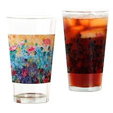 Flowers Everywhere Drinking Glass