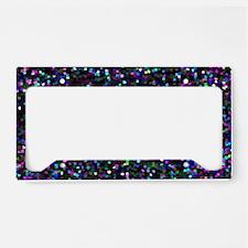 Mosaic Glitter 1 License Plate Holder