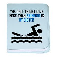Swimming Sister baby blanket