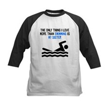 Swimming Sister Baseball Jersey