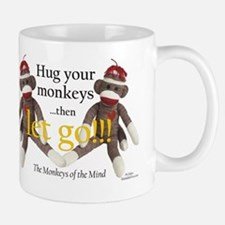 Sock Monkey Letting Go Mug