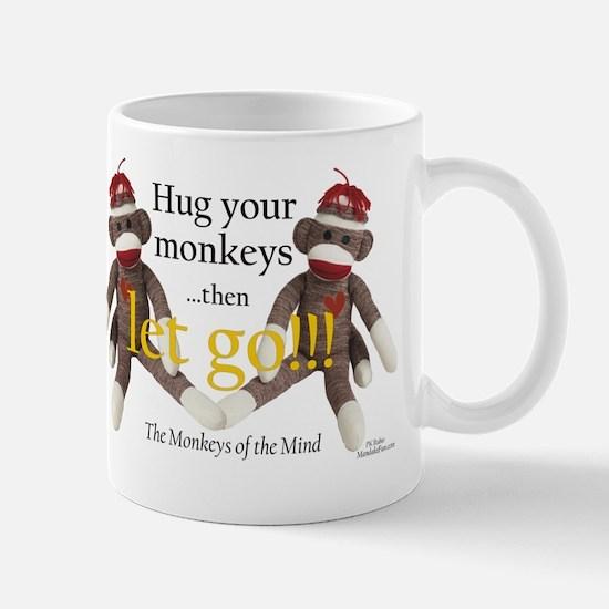 Sock Monkey Letting Go Mug