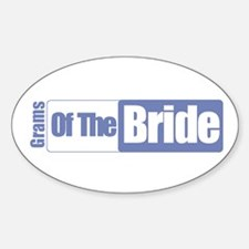 Grams of the Bride Oval Decal