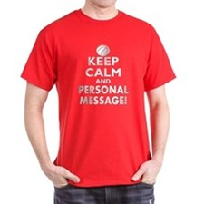 Personalized Keep Calm Basketball T-Shirt