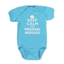 Personalized Keep Calm Basketball Baby Bodysuit