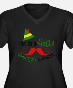 Smilings my  Women's Plus Size Dark V-Neck T-Shirt