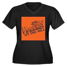 Maggies Women's Plus Size V-Neck Dark T-Shirt