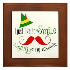 Smilings my favorite Framed Tile