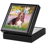 Basset in the Garden Keepsake Box