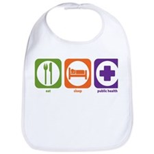 Eat Sleep Public Health Bib
