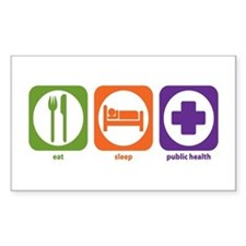 Eat Sleep Public Health Rectangle Decal