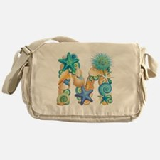 Beach Theme Initial M Messenger Bag