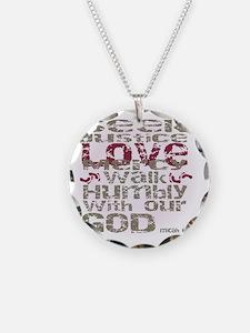 Micah 6:8 Necklace