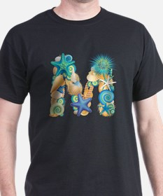 Beach Theme Initial M T-Shirt