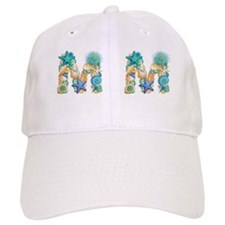 Beach Theme Initial M Baseball Cap