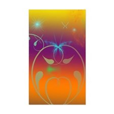 Butterflies and Cosmos Decal