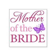 """Mother Of The Bride (Butter Square Sticker 3"""" x 3"""""""