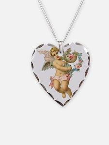 Cute Vintage Victorian Angel  Necklace