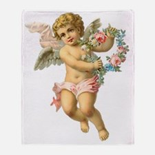Cute Vintage Victorian Angel /Cherub Throw Blanket
