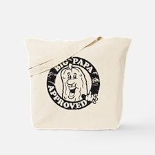 Big Papa Approved Stamp Black Tote Bag