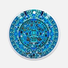Ancient Mayan Calendar Round Ornament