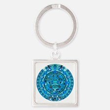 Ancient Mayan Calendar Square Keychain