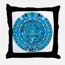 Ancient Mayan Calendar Throw Pillow