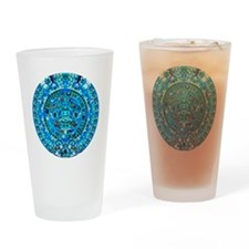 Ancient Mayan Calendar Drinking Glass
