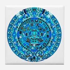 Ancient Mayan Calendar Tile Coaster