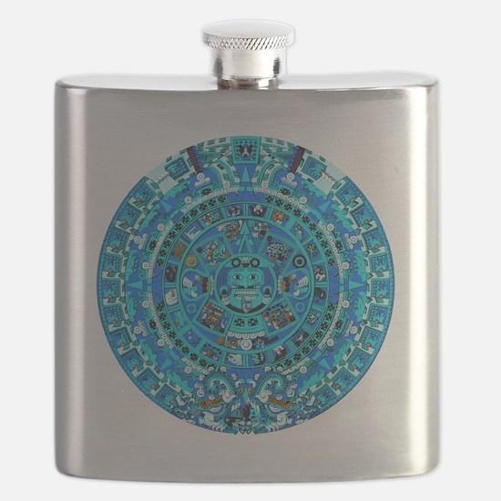 Ancient Mayan Calendar Flask