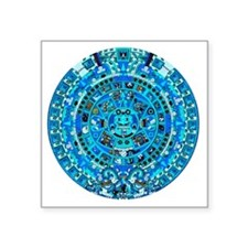 "Ancient Mayan Calendar Square Sticker 3"" x 3"""
