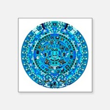 "Ancient Mayan Calendar Square Sticker 3"" x 3"""