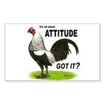 Got Attitude? Rectangle Sticker