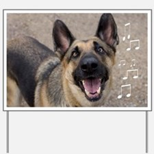 German Shepherd Birthday Card Yard Sign