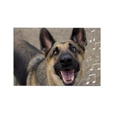 German Shepherd Birthday Card Rectangle Magnet