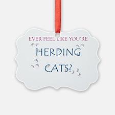 Herding cats color Ornament