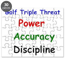 Golf Triple Threat Power Accuracy Disciplin Puzzle