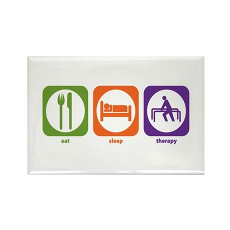 Eat Sleep Therapy Rectangle Magnet (100 pack)