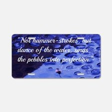 Inspirational Quote - Perse Aluminum License Plate