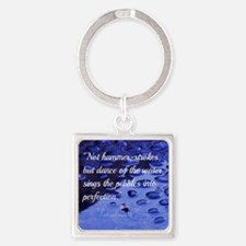 Perseverance Inspirational Quote S Square Keychain