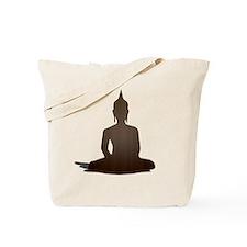 Sitting Wood Buddha Tote Bag