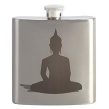 Sitting Wood Buddha Flask