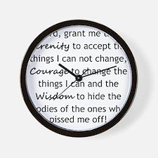 Sarcastic Serenity Prayer 01 Wall Clock