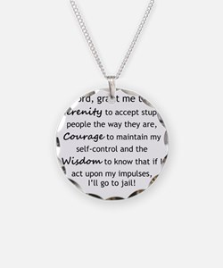 Sarcastic Serenity Prayer 02 Necklace